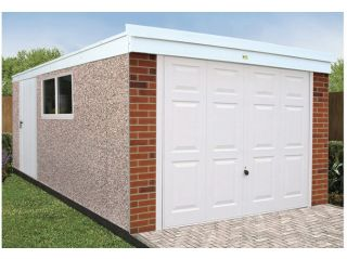 The maintenance-free Pent Deluxe garage
