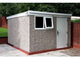 A 10ft x 12ft Deluxe Pent with upgraded opening window
