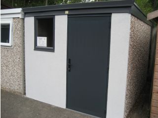 An 8' x 10' model with optional textured finish on the front