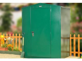 """A single bay Edale (5'2"""" x 3'7"""") in green"""