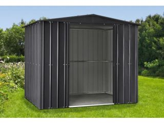 A Lotus anthracite grey apex shed