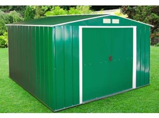 A 10ft x 10ft Sapphire shed in green