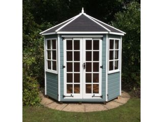 A painted Lichfield with optional black felt tiled roof
