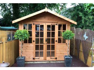 An 8ft wide Summerhouse, standard spec with optional bearers